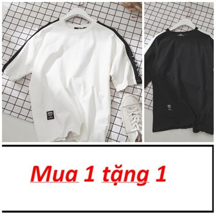 Hình ảnh ComBo Giảm Giá 2 áo thun Nam Nữ- Thời Trang Evolpo- Thời trang Unisex (trắng đen nâu)