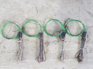 2 bộ Giò bẫy cúm núm, quốc, bịp, gà đồng màu tàng hình cỏ khô xanh rêu ( 2 bộ 40 chân giá rẻ ) thumbnail