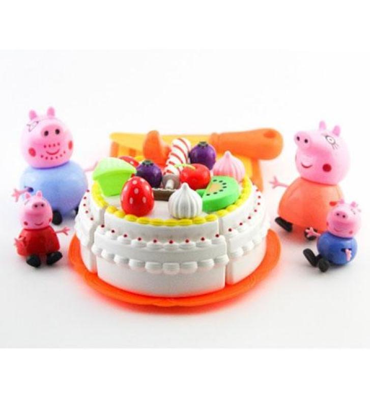 Bộ đồ chơi cắt bánh sinh nhật gia đình nhà lợn Peppa Pig