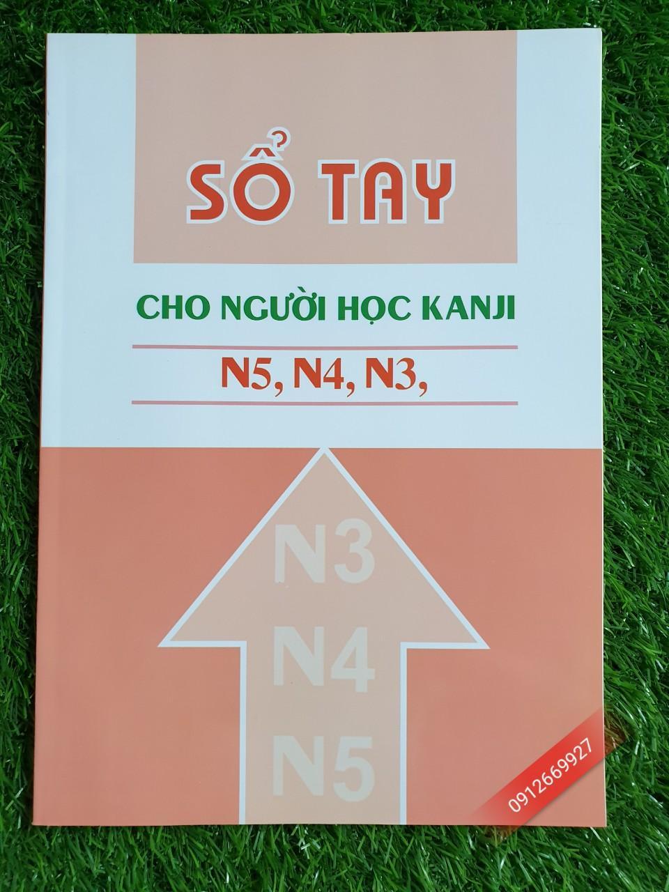 Mua Sách Sổ tay cho người học Kanji N5, N4, N3