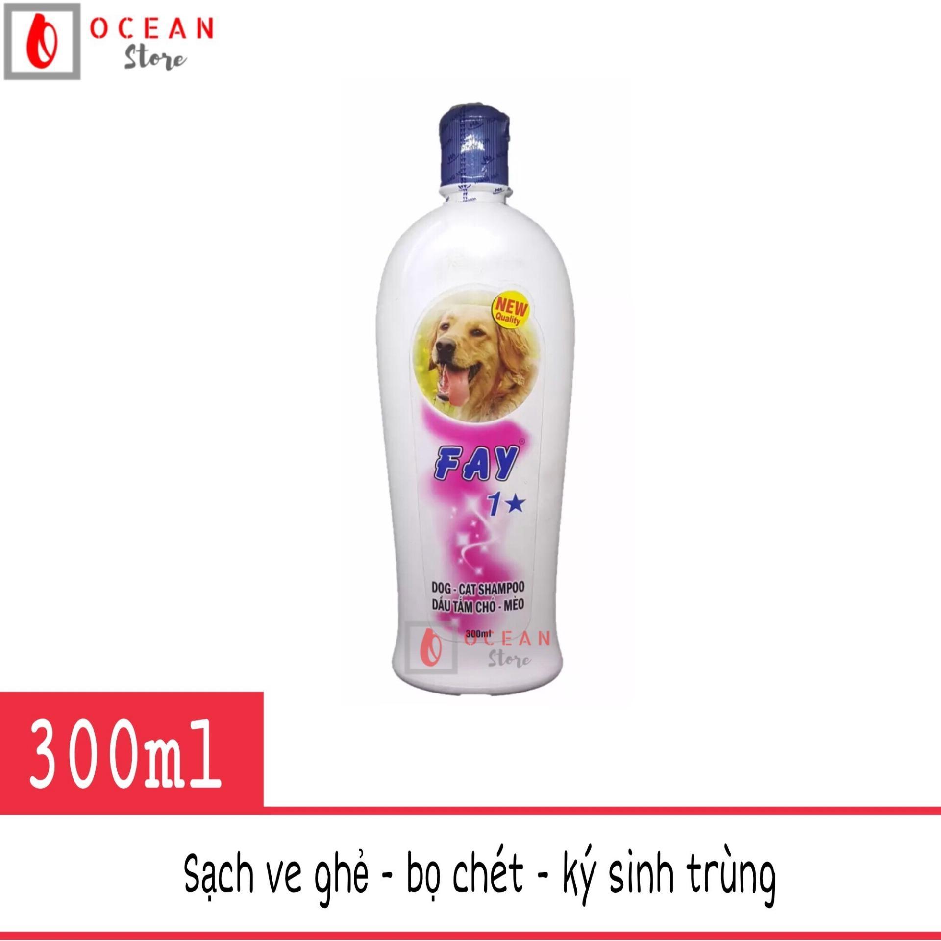 Sữa tắm diệt ve ghẻ, bọ chét, dưỡng lông, thơm lâu cho chó mèo - Fay 1 sao 300ml Nhật Bản