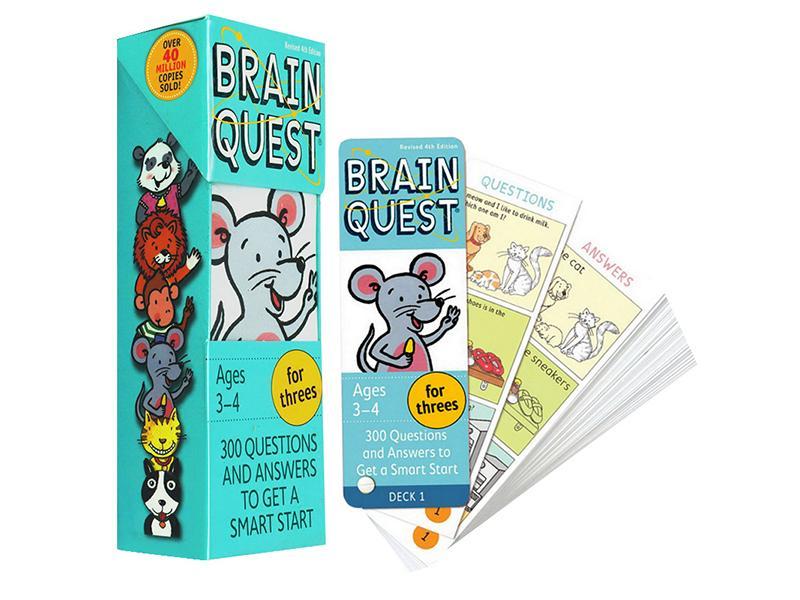 Bộ Thẻ Học Tiếng Anh Brain Quest For Threes By Sách Thiếu Nhi Mẹ Ong Nâu.