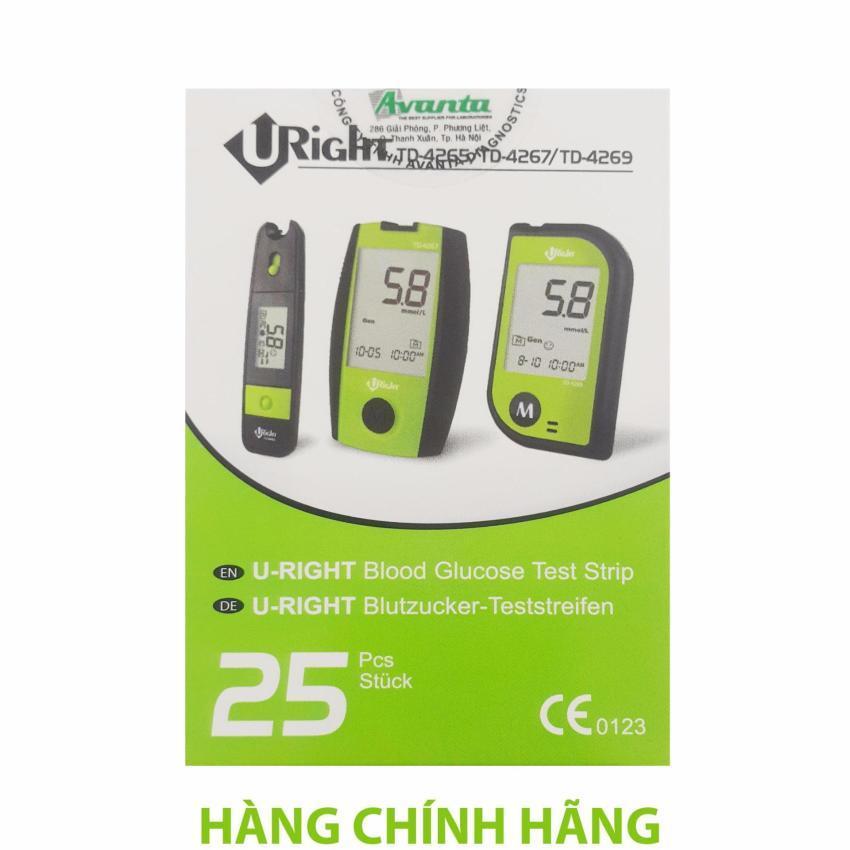 Que Thử đường Huyết Hộp 25 Que Rời Dùng Cho Máy U-Right TD-4265 ( Date Dài ) Giá Cực Cool