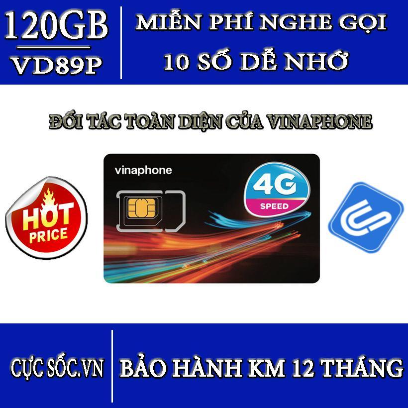 Hình ảnh Siêu Sim 10 số 3G/4G VD89Plus Vinaphone 120GB/Tháng + gọi miễn phí-Hot 2018
