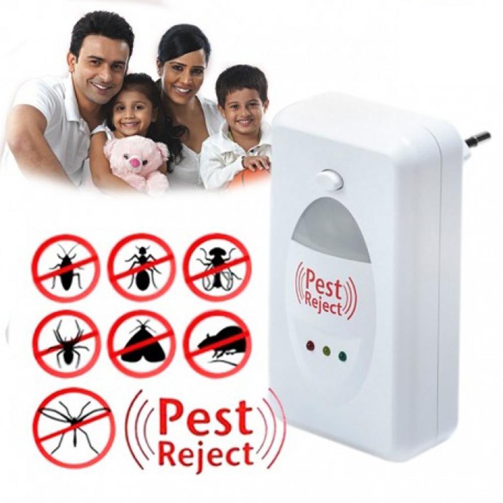 Mua Bắt côn trùng, Cong ty diet moi, Đuổi chuột bằng điện thoại, Den hut muoi - Thiết bị đuổi côn trùng PESTREJET  Cao Cấp( Hàng loại 1) Công nghệ sóng siêu âm, đuổi những con vật đang ghét ra khỏi nhà Bạn - Mã BH 38
