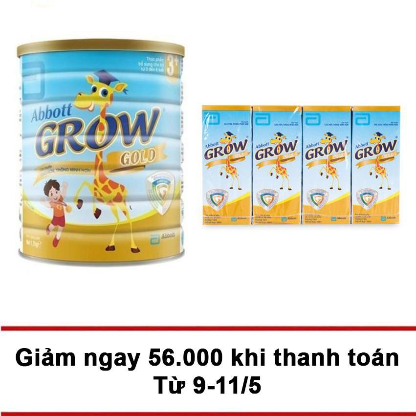 Giá Bán Bộ Sữa Bột Abbott Grow Gold 3 Hương Vani 900G 4 Hộp Sữa Abbott Grow Gold Hương Vani 180Ml Grow Nguyên