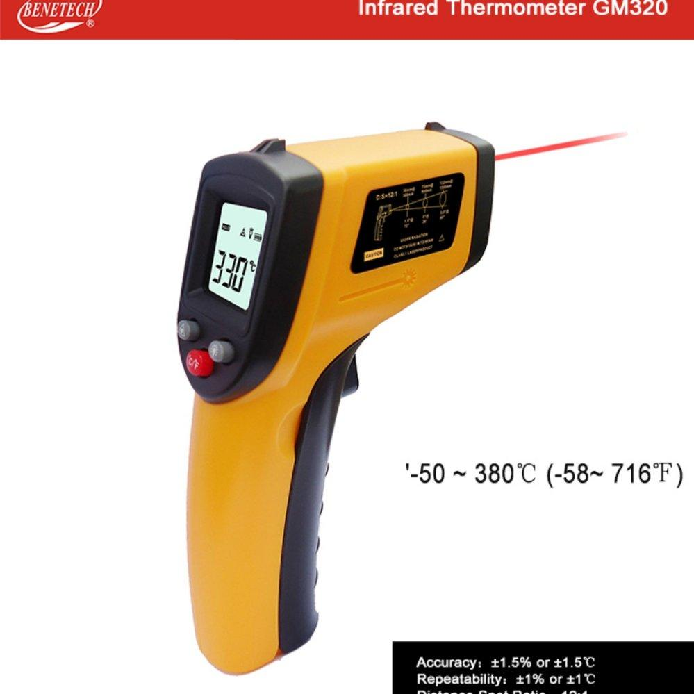 Nhiệt kế  hồng ngoại Đo nhiệt độ cơ thể, máy móc BENETECH GM-320