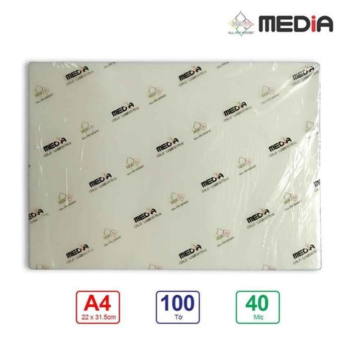 Mã Giảm Giá tại Lazada cho Màng Ép Plastic Media A4(22x31.5cm) 40Mic 100 Tờ / Xấp