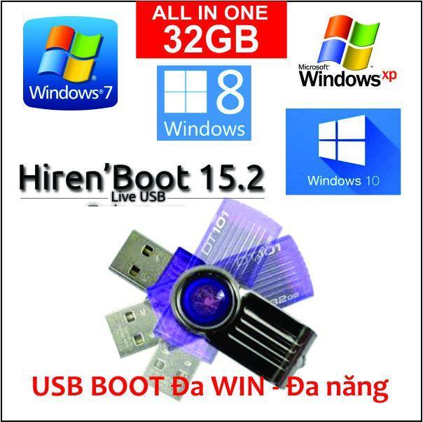 Hình ảnh USB 32GB cài Đa WIN 7, 8, 10 ALL - MS Office ALL