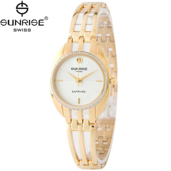 Đồng hồ nữ dây kim loại mặt kính sapphire chống xước Sunrise SL9938DLK