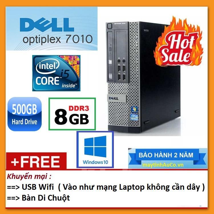 Thùng Dell Optiplex 7010 ( Core I5 2400 / 8G / 500G ), Tặng USB Wifi , Bàn Di Chuột - Bảo Hành 24 Tháng - Hàng Nhập Khẩu Ưu Đãi Bất Ngờ