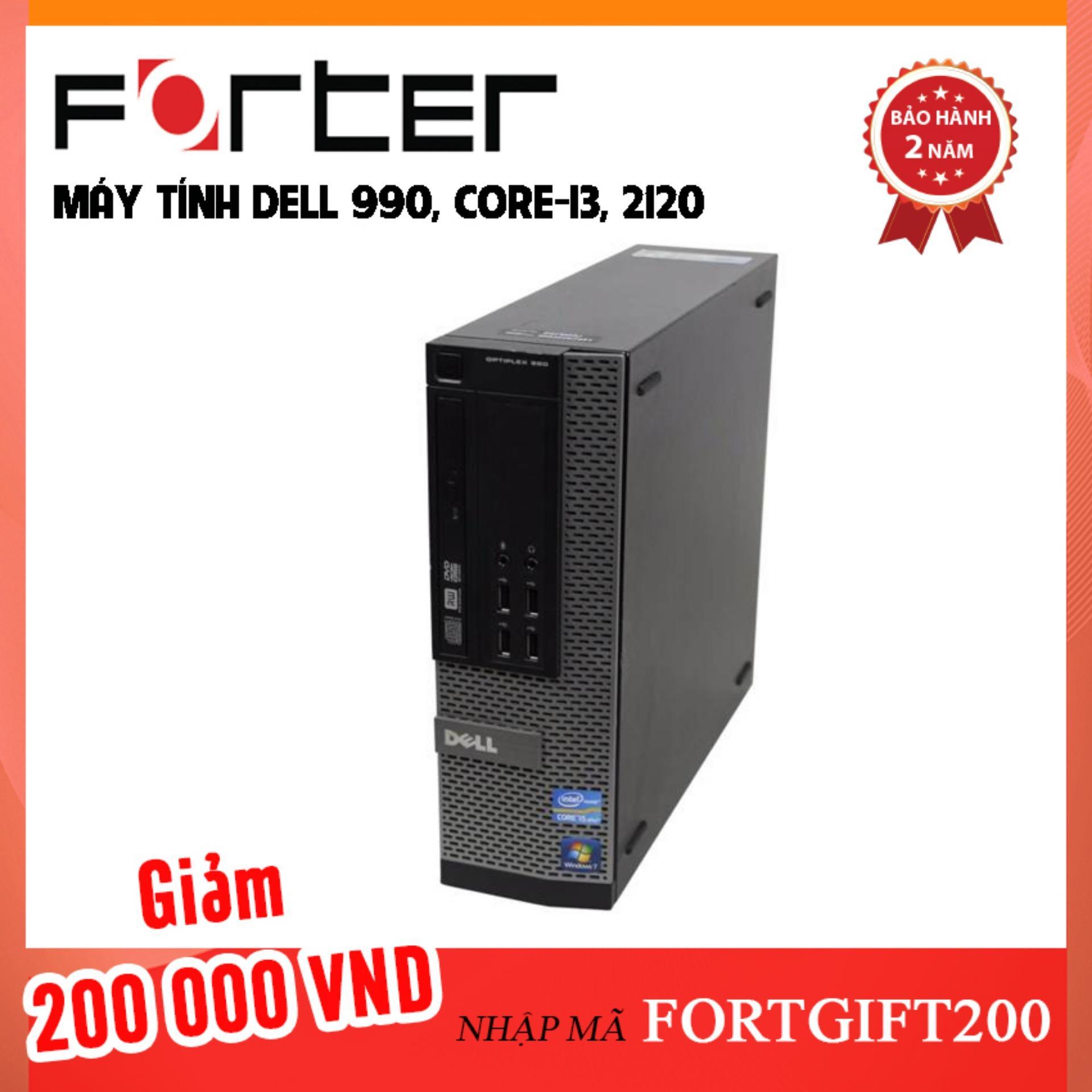 Máy tính Dell 990, core-i3, 2120, cache 3.3M, Ram 4Gb, Hdd 320Gb DVD - Bảo Hành 1 đổi 1 trong 24 tháng - Hàng nhập khẩu