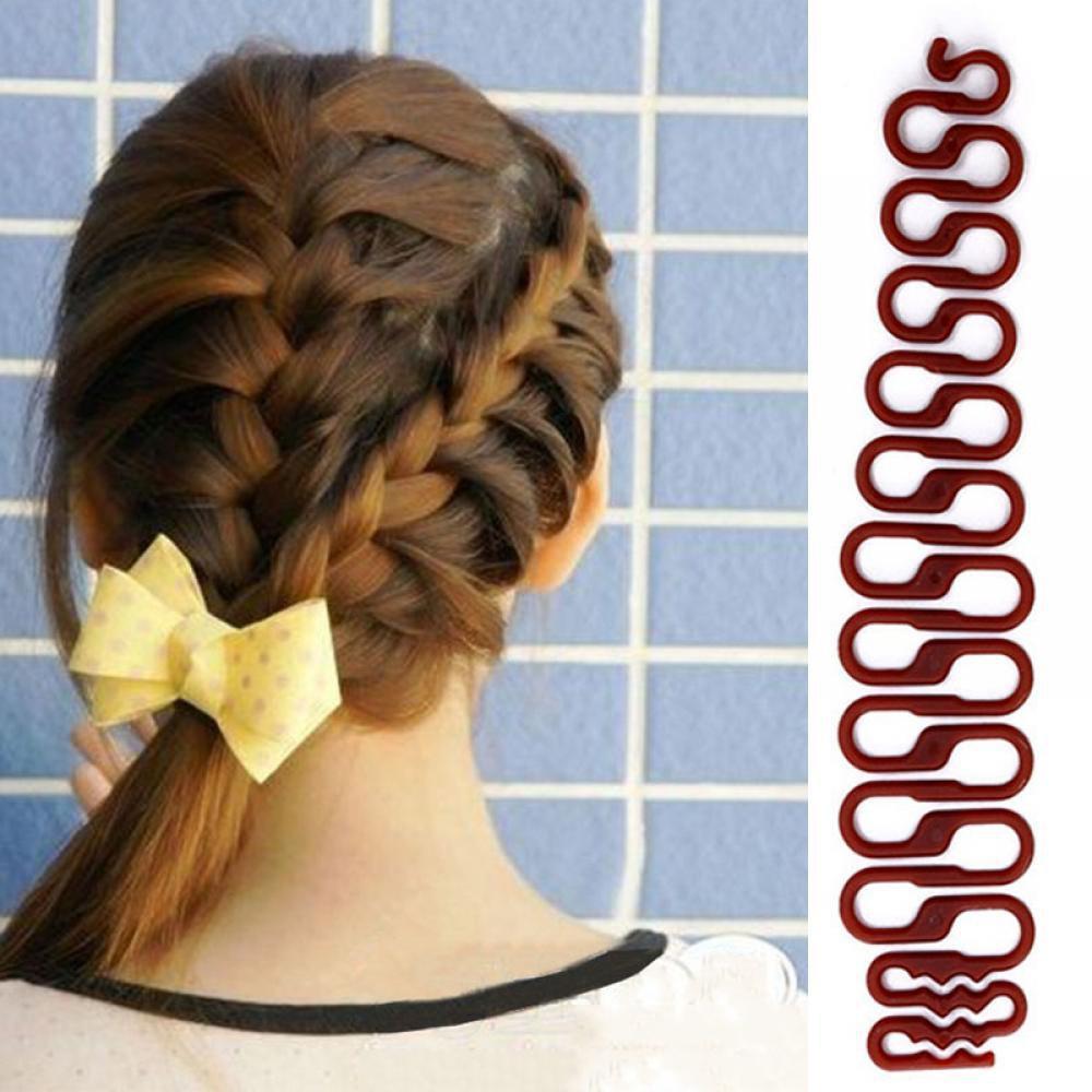 Bộ 2 Dụng cụ tạo kiểu bím tóc chuyên nghiệp (nâu) nhập khẩu