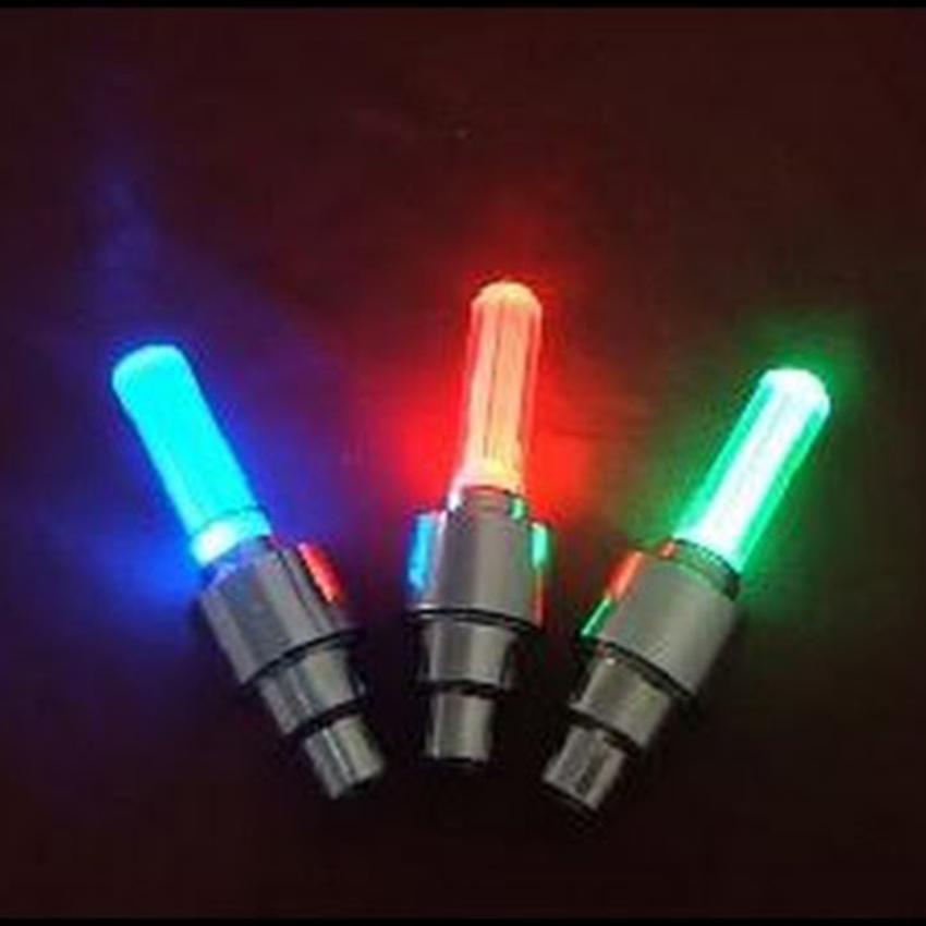 Bộ 2 đèn led gắn van bánh xe đạp, xe đạp điện, xe máy