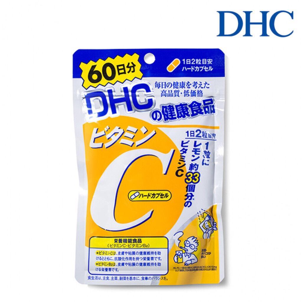 ( Bill mua hàng , date 2021 ) Viên uống bổ sung Vitamin C DHC gói 60 ngày 120 viên chính hãng
