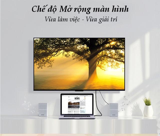 Cáp HDMI sang VGA dài 1.5m UGREEN MM117
