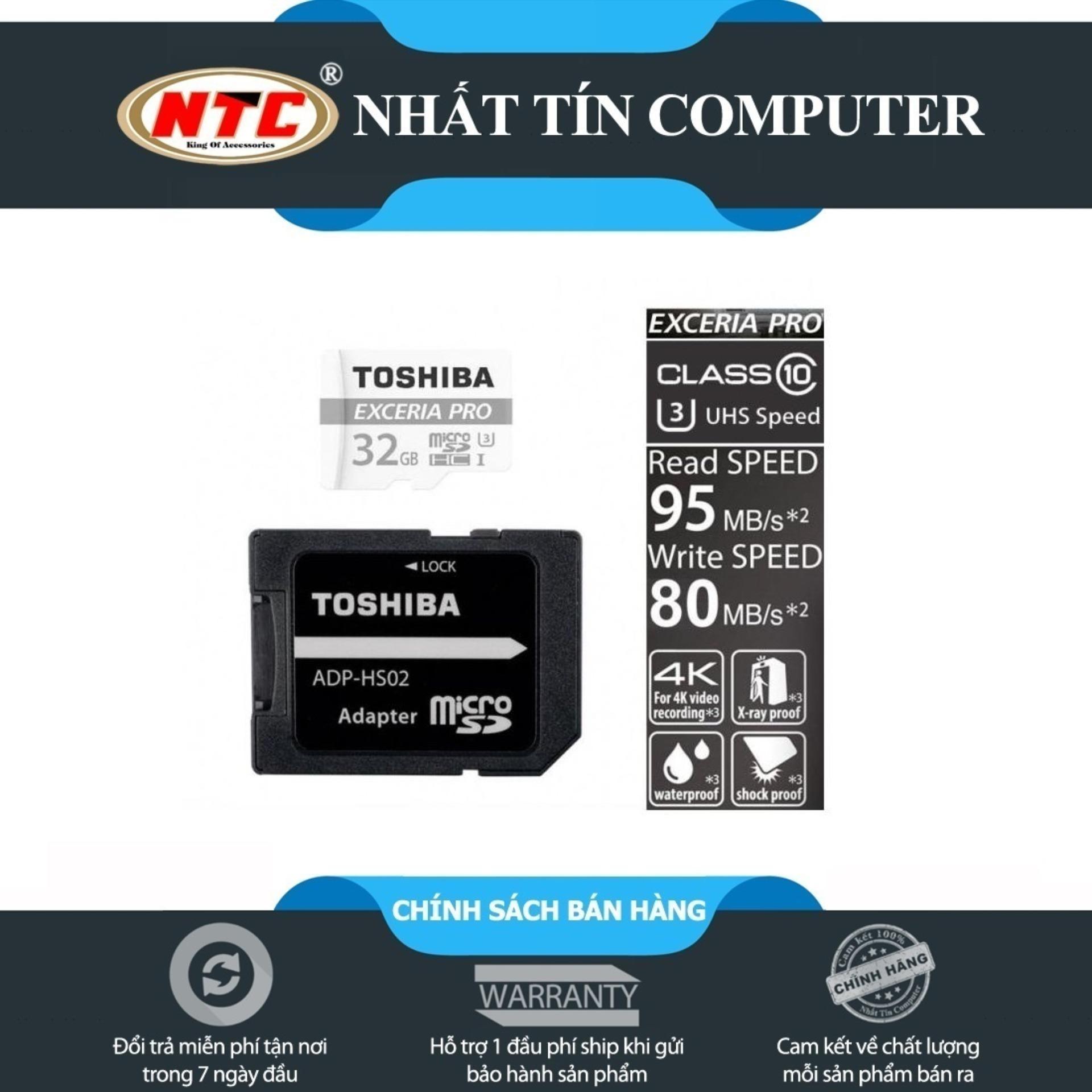 Thẻ nhớ MicroSDXC Toshiba Exceria Pro M401 64GB UHS-I U3 4K 95MB/s (Trắng)