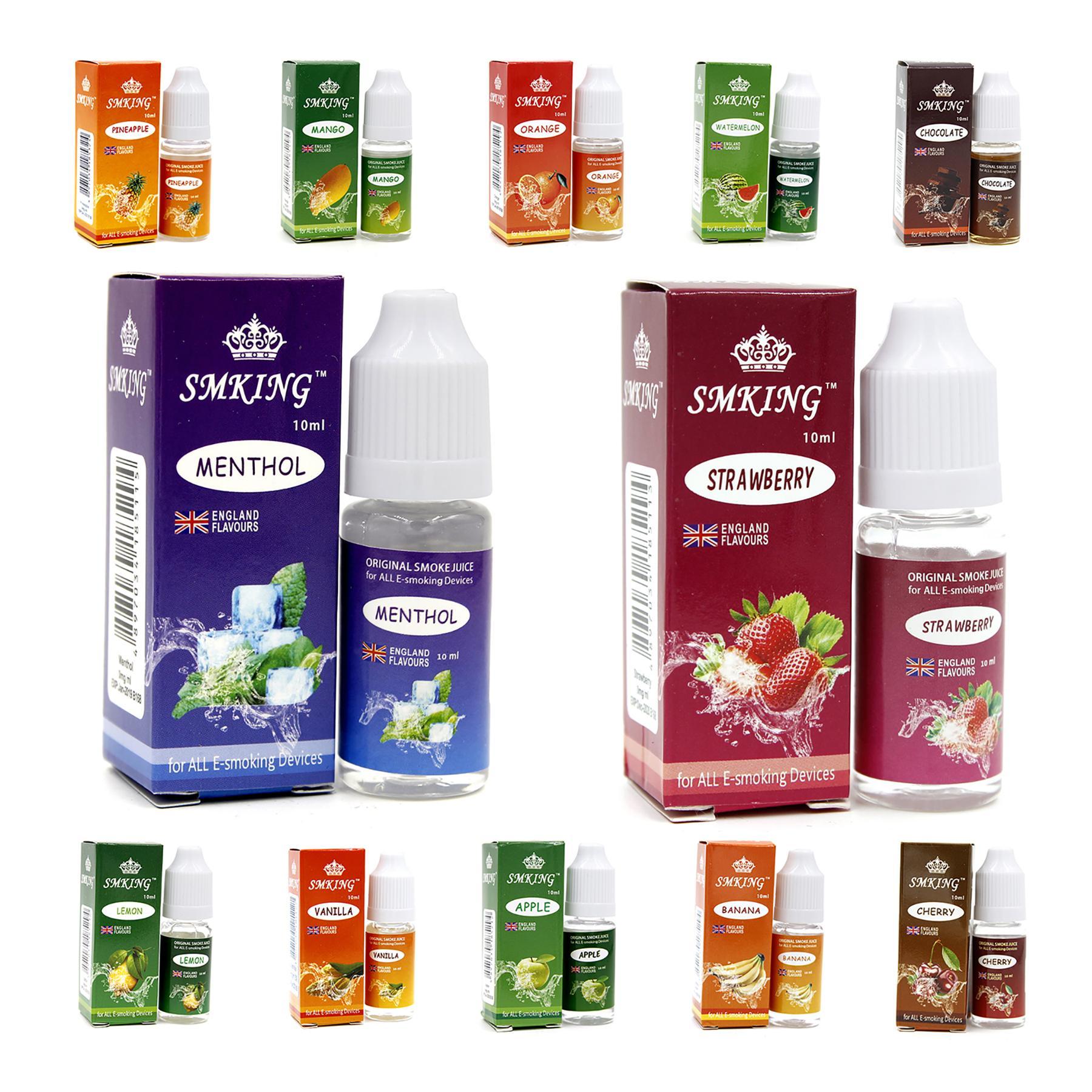 Tinh dầu 10ml test Vape / Shisha / Thuốc lá điện tử - giá rẻ - an toàn - Siêu khói (Hương vị ngẫu nhiên)
