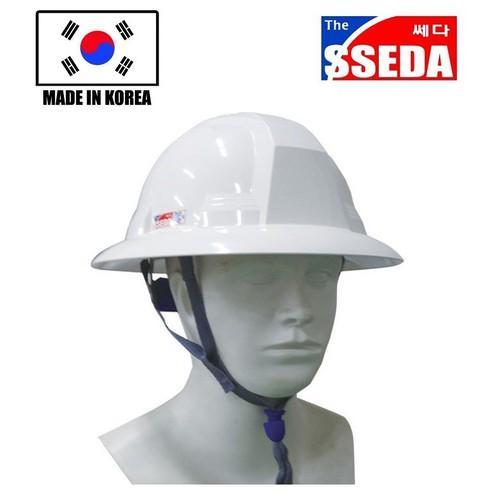 Mũ bảo hộ SSEDA Hàn Quốc vành rộng màu trắng