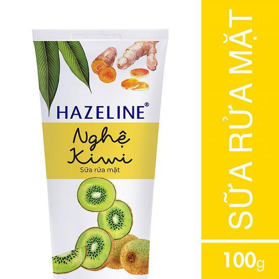Sữa rửa mặt Hazeline Nghệ Kiwi 100g chính hãng