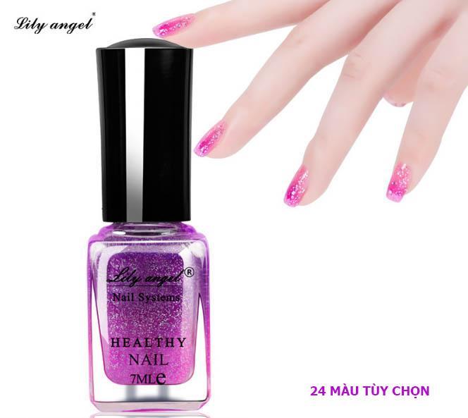 Sơn móng tay 7ml Lily Angel cao cấp, không độc hại, mùi thơm phong lan (24 màu lựa chọn)