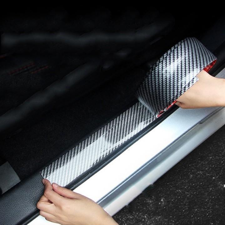 Nẹp cacbon trang trí cho xe ô tô (bản 5cm) - cuộn 2.5 met