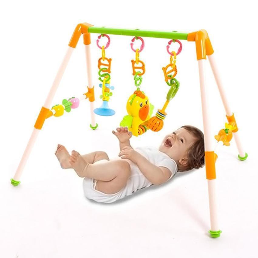 Hình ảnh Kệ Đồ Chơi Chữ A Con Vẹt Cho Bé/ Đồ chơi gắn cũi cho bé