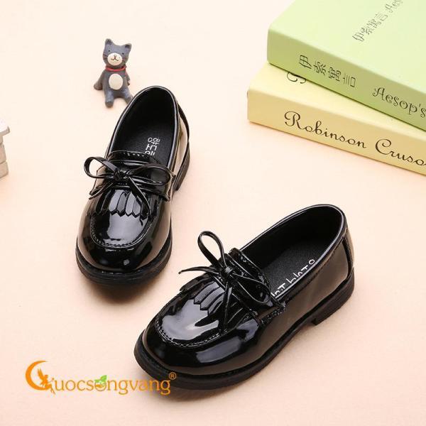 Giá bán Giày bé gái đẹp giày búp bê bé gái đính nơ GLG061