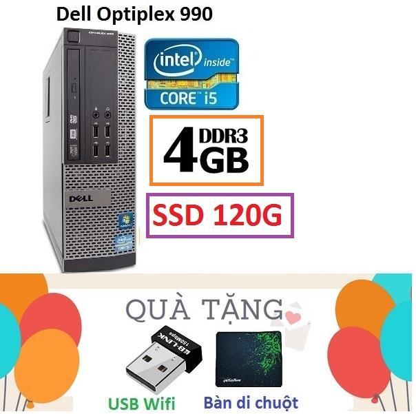 Đồng Bộ Dell Optiplex 990 Core i5 2400 / 4G / SSD 120G - Tặng USB Wifi , Bàn di chuột , Bảo hành 24 tháng