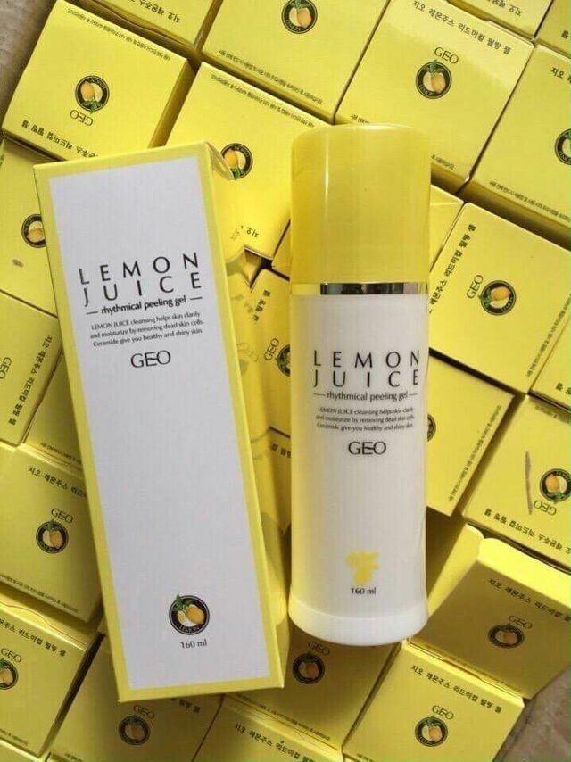 Tẩy Da Chết Chanh Geo Lemon Juice Rhythmical Peeling Gel 180ml