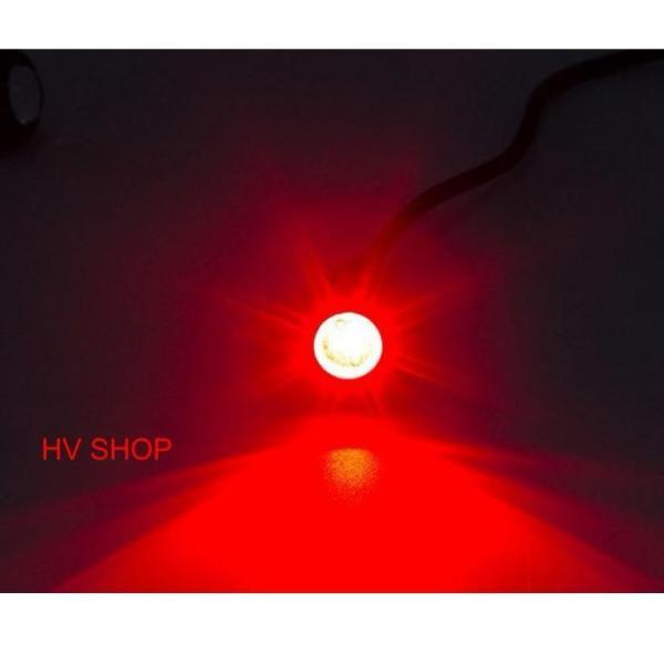 Xinhan nut ao xe may Bộ 2 Đèn Xi Nhan nút áo xe máy ( sáng đỏ ) ( 1 cặp )