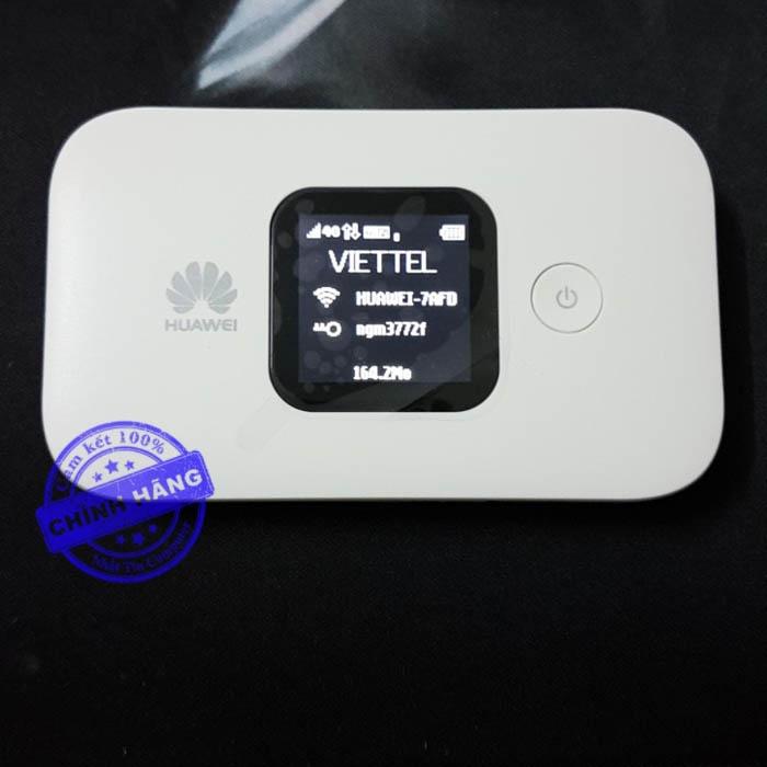 Thiết bị phát sóng Wifi từ sim 3G/4G Huawei E5372 - có màn hình LCD (Trắng)