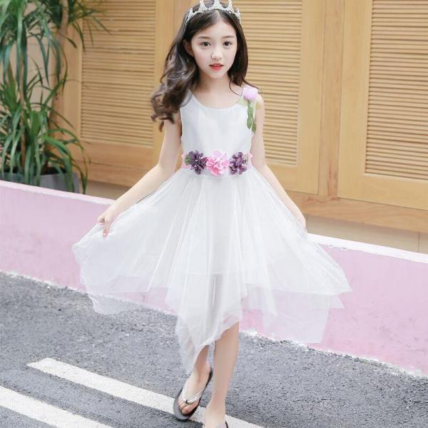 Giá bán Mùa Hè Cô Gái Váy 2019 Mẫu Mới Mốt Thời Thượng Váy Trẻ Em 6 Học Sinh Tiểu Học 12 Tuổi Quần Áo Bé Gái Vải Chiffon Váy Liền Thủy Triều