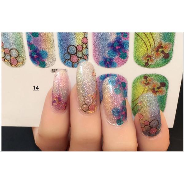 [HCM]Nail art sticker dán móng tay N24 giá rẻ