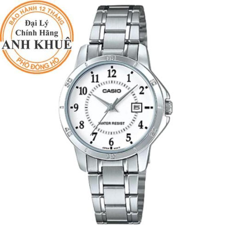 Đồng hồ nữ dây kim loại Casio Anh Khuê LTP-V004D-7BUDF