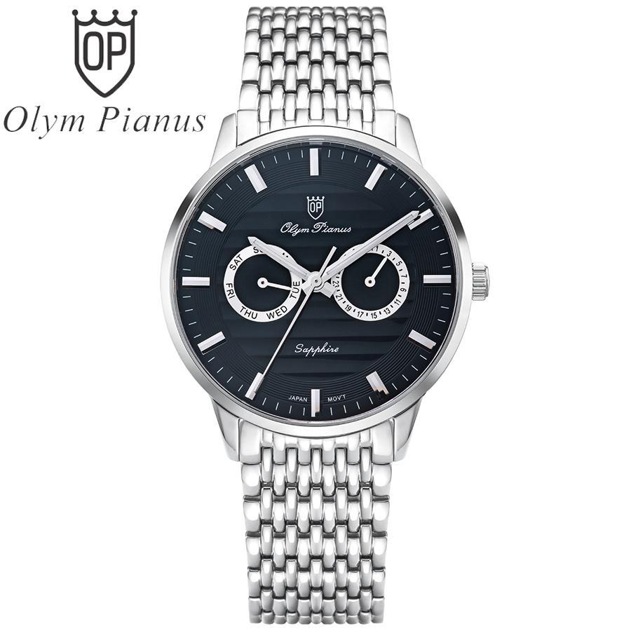 Đồng hồ nam mặt kính sapphire Olym Pianus OP5708MS đen bán chạy