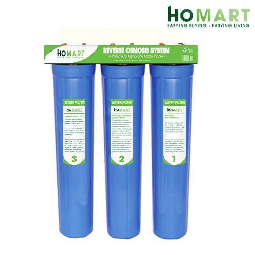 Bộ lọc nước sinh hoạt 3 cấp ly 20 ba ly xanh