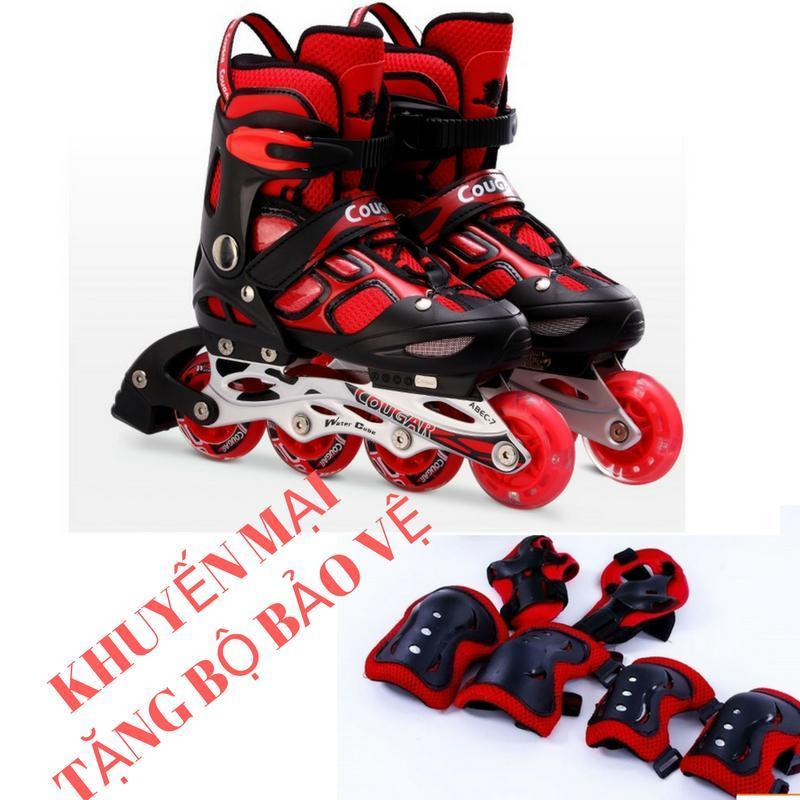 Phân phối Giày trượt patin Cougar 835LSG - có đèn Tặng bộ bảo vệ (Gối, khuỷu, tay)