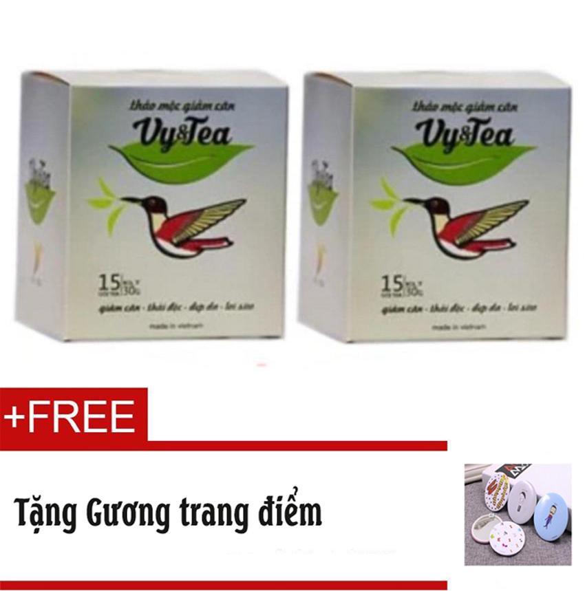 Hình ảnh Trà thảo mộc giảm cân Vy & Tea Chính hãng (Liệu Trình 15 Ngày)- Tặng Gương trang điểm