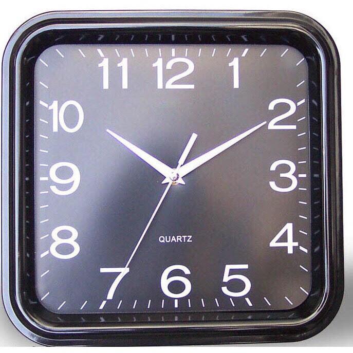 Nơi bán Đồng hồ treo tường hình vuông kích thước 29x29cm (đen) - (BQ300-DEN)