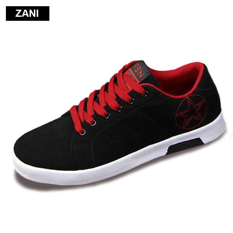 Mã Khuyến Mại Giay Sneaker Nam Kiểu Day Buộc Zani Zn8607Br Đen Đỏ Hà Nội