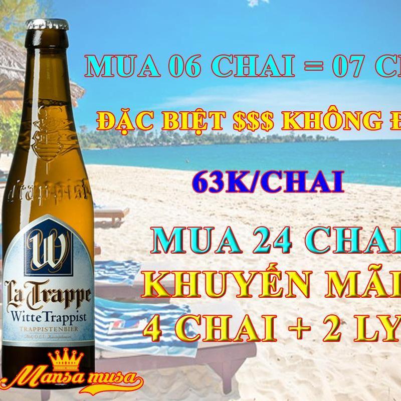Séc 24 chai bia Bỉ La Trappe Witte 5,5% ( 330mml )