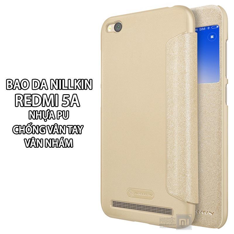 2 Mau Bao Da Cửa Sổ Nillkin Dung Cho Xiaomi Redmi 5A Giả Da Pu Van Nham Nillkin Chiết Khấu 50