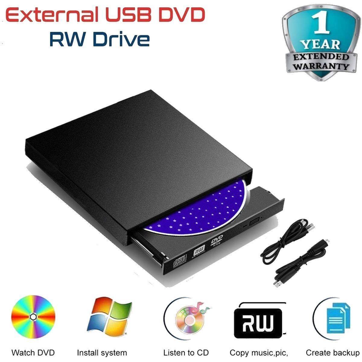 Hình ảnh Ổ Đĩa Quang CD DVD Rời Gắn Ngoài USB 2.0 Đọc Ghi