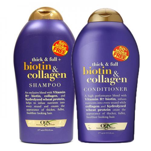 Set Dầu Gội + Xả Biotin & Collagen OGX ngăn rụng tóc 577ml tốt nhất