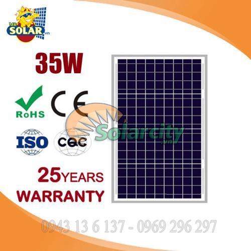 Tấm pin năng lượng mặt trời 35w Poly