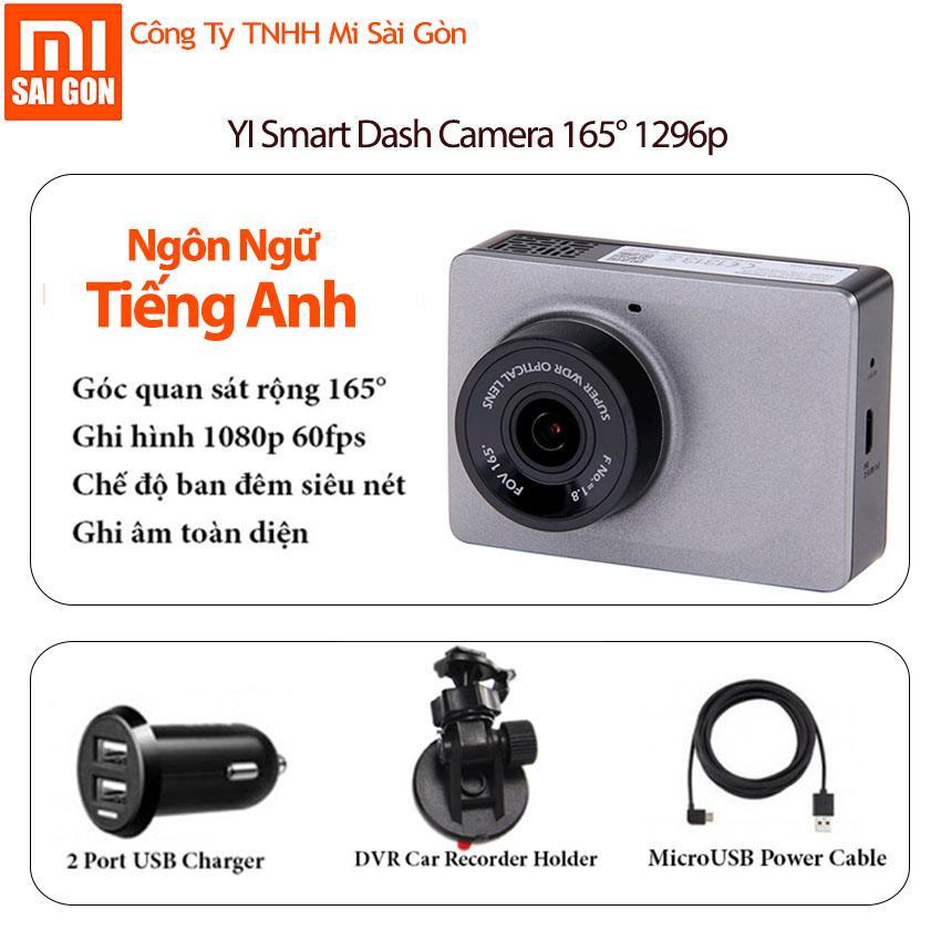 Hình ảnh Camera hành trình Xiaomi YI Car Smart Dashcam 1080p Xám - BẢN NGÔN NGỮ TIẾNG ANH