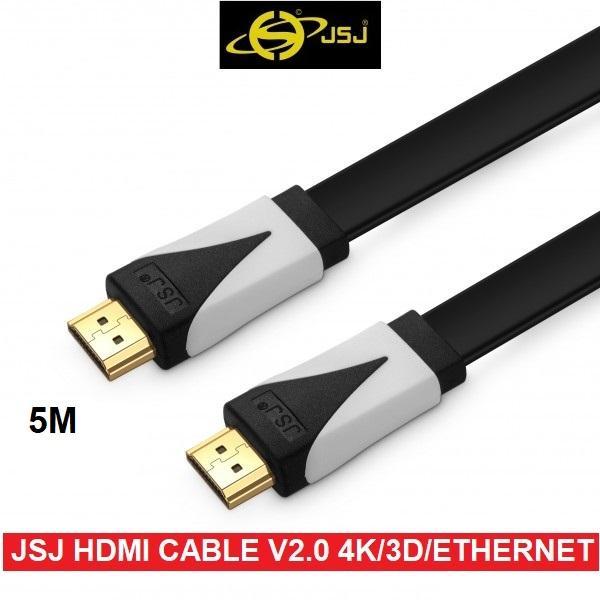 Dây cáp HDMI JSJ chuẩn 2.0 hỗ trợ 3D/4K/Ultra HD/Ethernet dài 5M