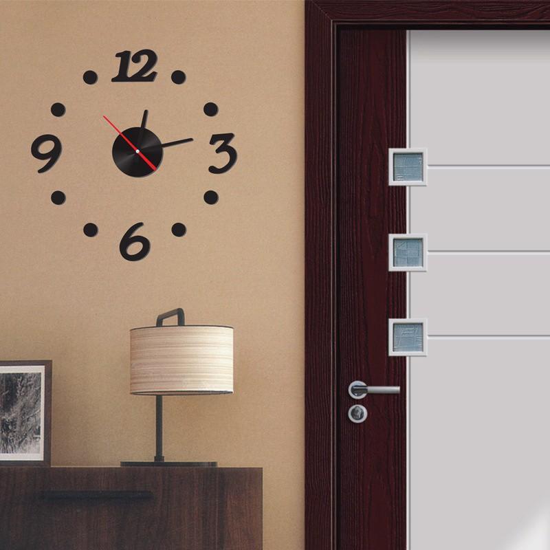 Nơi bán Đồng hồ treo dán tường DIY phong cách hiện đại ( đen) Bảo hành 3 tháng