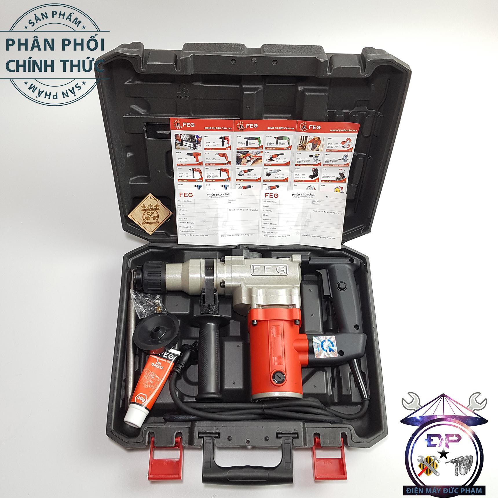 Máy khoan đục bê tông FEG-550-900W 26mm ( công ty bảo hành 6 tháng )